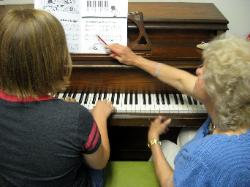 Piano Lesson at Roselle School of Music